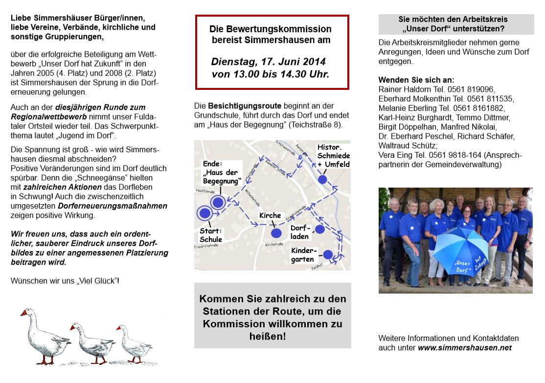Flyer Unser Dorf 2014