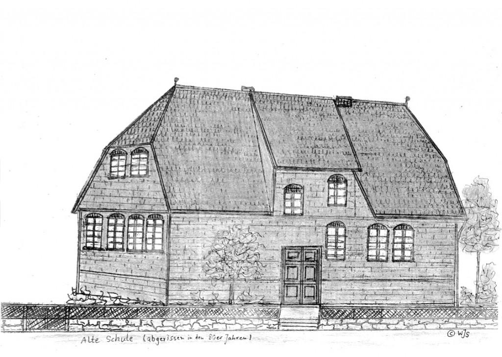 Alte Schule (abgerissen) in der Hauffstrasse