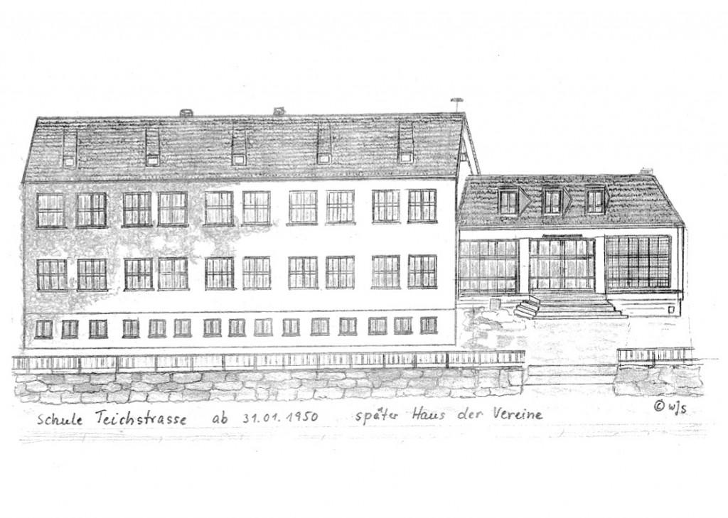 Schule (erbaut 1950) später 'Haus der Vereine' in der Teichstrasse